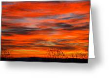 Sunrise In Ithaca Greeting Card