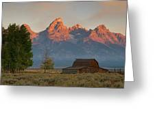 Sunrise In Jackson Hole Greeting Card