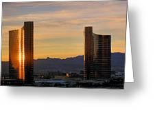 Sunrise In Las Vegas Greeting Card