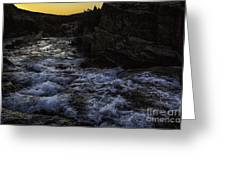 Sunrise In Many Glacier Area Greeting Card