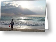Sunrise In Miami Greeting Card
