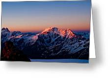 Sunrise In Mountains Greeting Card by Iurii Zaika
