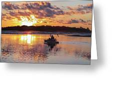 Sunrise In Murrells Inlet, Sc Greeting Card