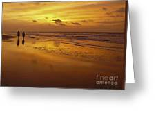 Sunrise In Orange Greeting Card