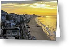 Sunrise In Rio De Janeiro Greeting Card