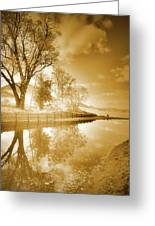 Sunrise In Sepia Greeting Card