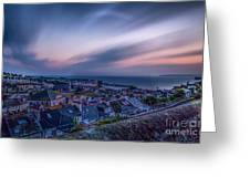 Sunrise In St Ives In Cornwall Greeting Card