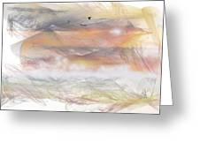 Sunrise In Steamy Fog Greeting Card