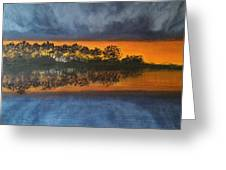 Sunrise In The Amazonas Greeting Card