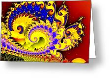 Sunrise In The Carnival Universe Greeting Card