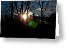 Sunrise In The Fall Greeting Card