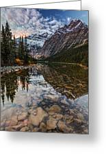 Sunrise In The Rocky Mountains Greeting Card
