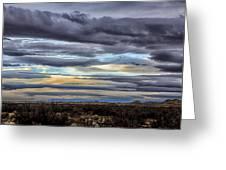 Sunrise In The Western Sky  Greeting Card