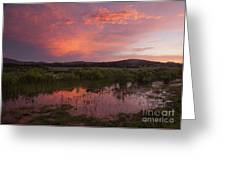 Sunrise In The Wichita Mountains Greeting Card