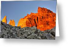 Sunrise In Torres Del Paine Greeting Card