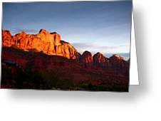 Sunrise In Utah Greeting Card