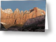 Sunrise In Zion National Park  Greeting Card