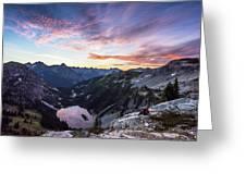 Sunrise Into The Lake Greeting Card