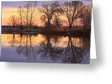 Sunrise Lake Reflections Greeting Card