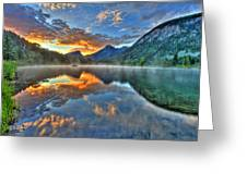 Sunrise Lake Greeting Card