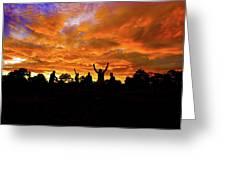 Sunrise Landscape In Tanzania Greeting Card