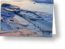 Sunrise Light On The Ice  Greeting Card