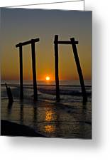 Sunrise At Ocean City Greeting Card