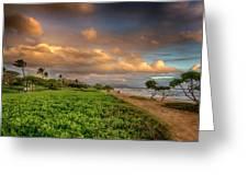 Sunrise Nukolii Beach Kauai Hawaii 7r2_dsc4068_01082018 Greeting Card
