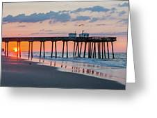 Sunrise Ocean City Fishing Pier Greeting Card
