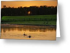 Sunrise On A Gettysburg Duck Pond Greeting Card