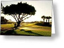 Sunrise On A Golf Course Greeting Card