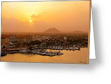 Sunrise On Aruba Greeting Card
