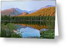 Sunrise On Bear Lake Rocky Mtns Greeting Card