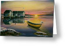 Sunrise On Blue Rocks 2 Greeting Card