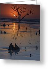 Sunrise On Boneyard Beach Greeting Card