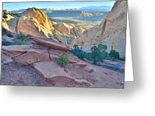 Sunrise On Burr Trail Switchbacks Greeting Card