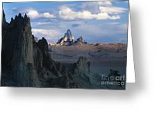 Sunrise On Church Rock  Greeting Card by Sandra Bronstein