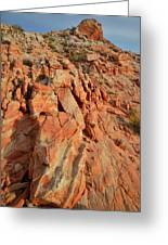 Sunrise On Colorful Sandstone In Valley Of Fire Greeting Card