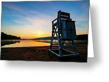 Sunrise On Eighth Lake 1 Greeting Card