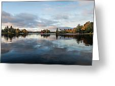 Sunrise On Fourth Lake Greeting Card