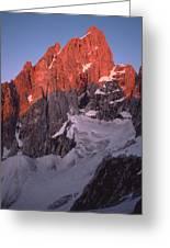 1m9380-sunrise On Grand Teton  Greeting Card