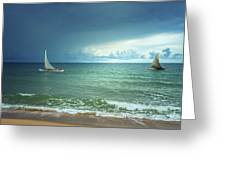 Sunrise On Indian Ocean Greeting Card