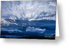 Sunrise On Lake Annecy Greeting Card