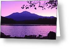 Sunrise On Lake Shasta Greeting Card