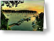 Sunrise On Mallet's Bay Greeting Card