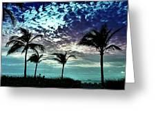 Sunrise On Miami Beach Greeting Card