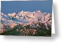 1m4120-sunrise On Mt. Olympus  Greeting Card