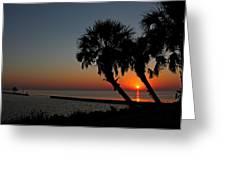 Sunrise On Pleasure Island Greeting Card
