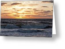 Sunrise On Pompano Beach Pompano Florida Greeting Card