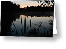 Sunrise On Pond Greeting Card